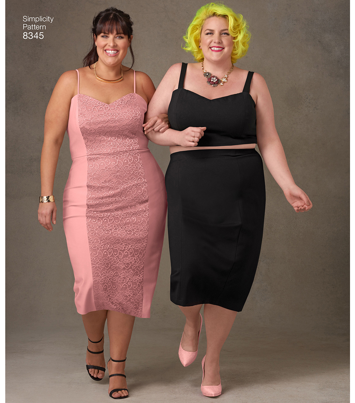 Simplicity Pattern 8345 Plus Size Dress, Top & Skirt-Size G5 (26W-34W)
