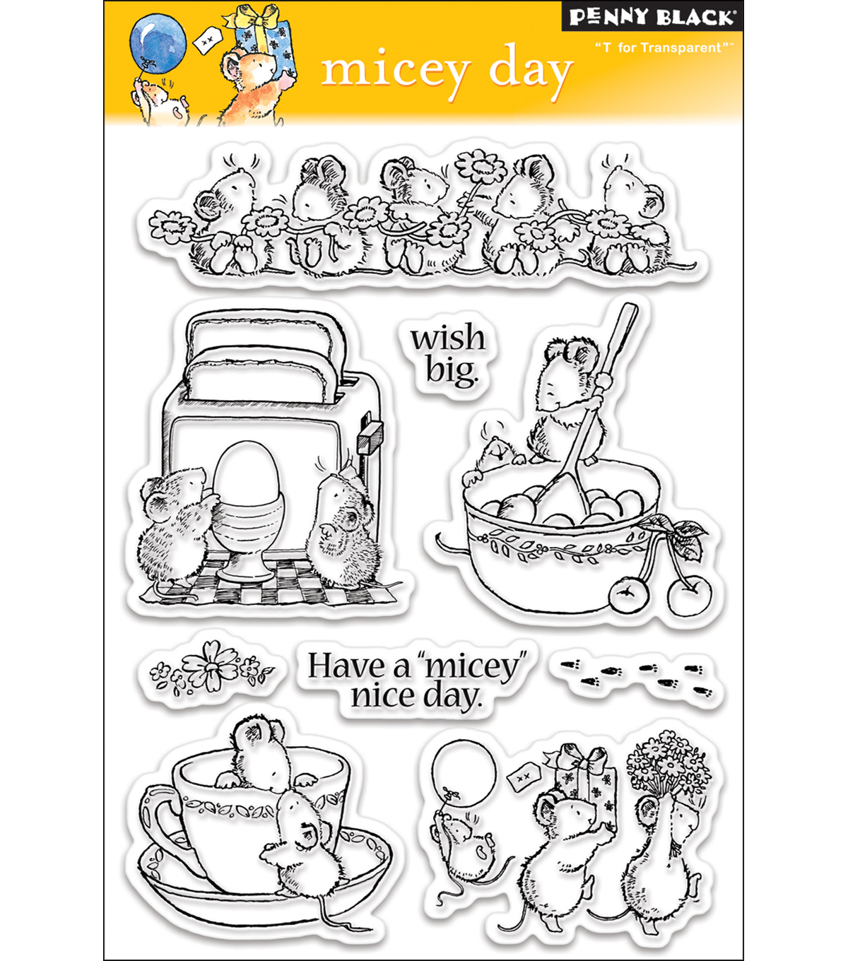Penny Black Clear Stamps 5\u0022X7.5\u0022 Sheet-Micey Day