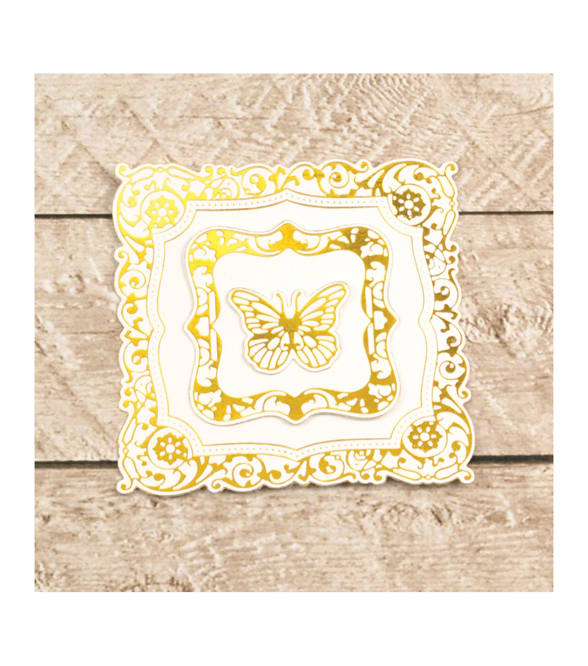 Couture Creations Cut, Foil & Emboss Nesting Dies-Butterfly Frames