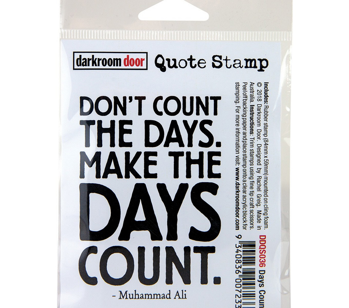 Darkroom Door Quote Cling Stamp 3.3\u0027\u0027X2.3\u0027\u0027-Days Count