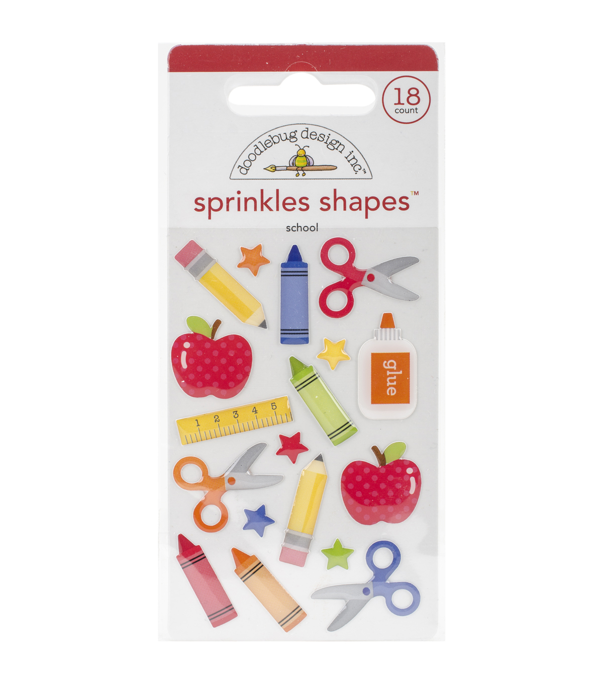 Sch Shapes-school Sprinkl Stckr