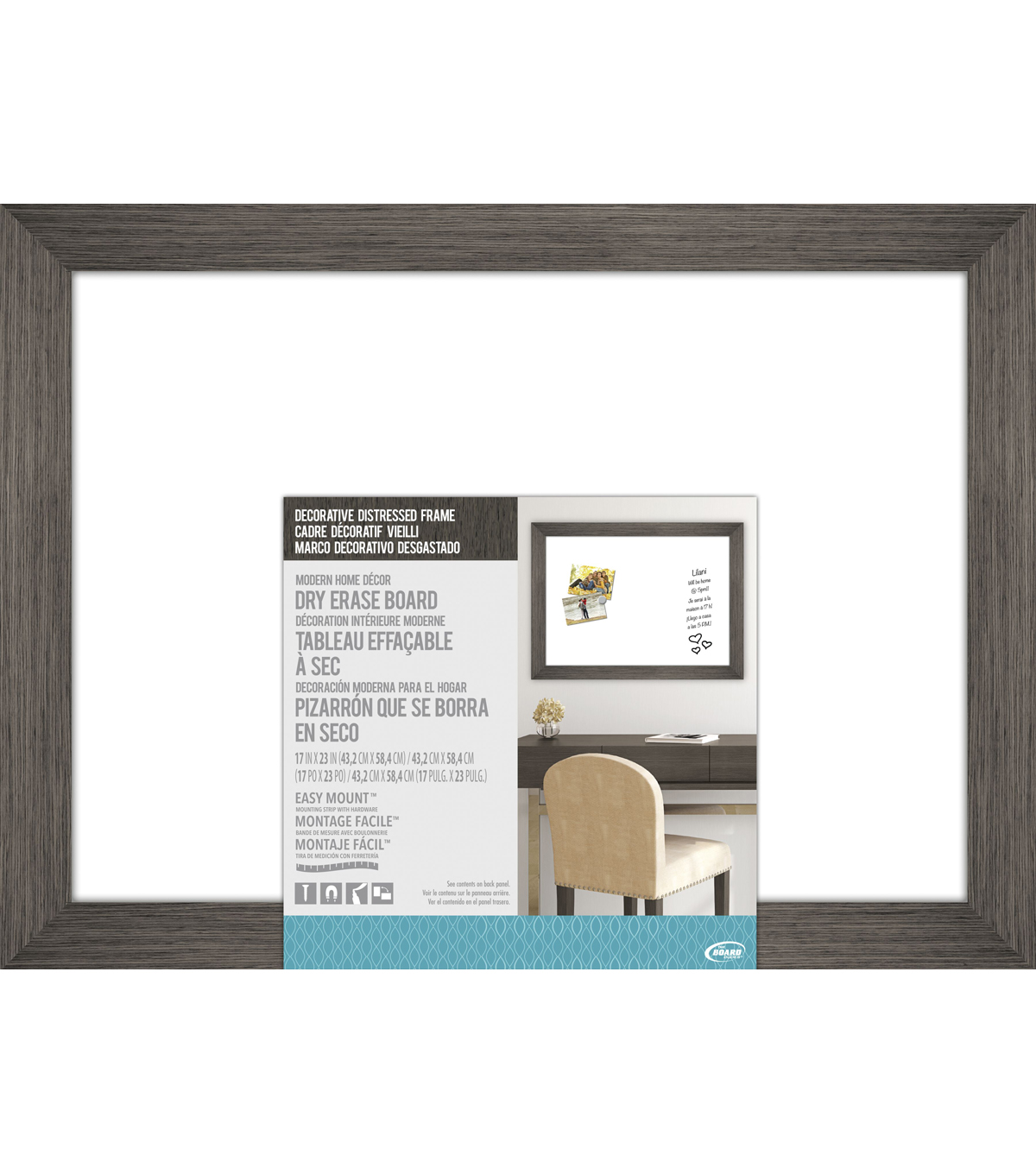 The Board Dudes Decorative Distressed Wood Frame Dry Erase