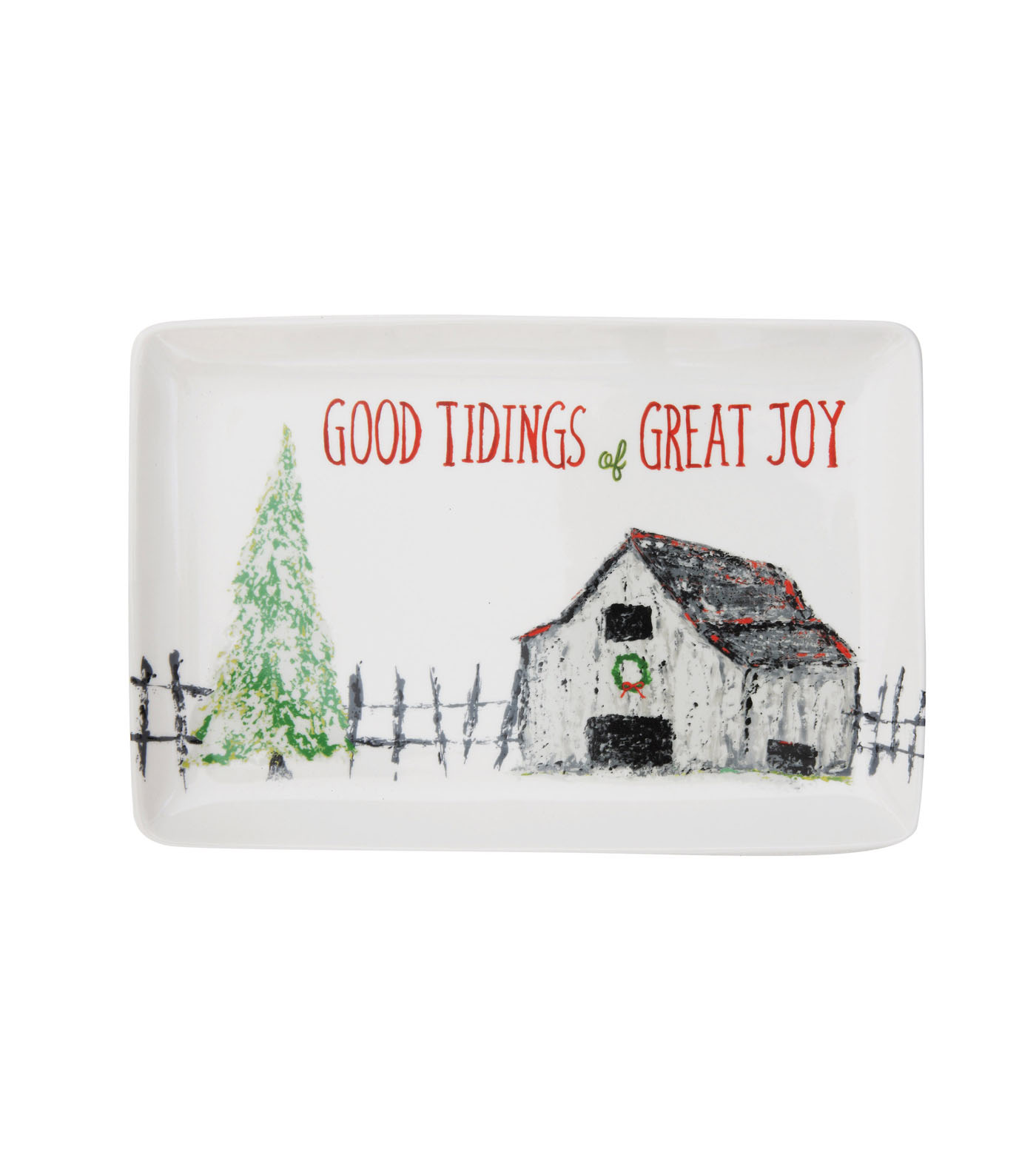 Christmas Serving Plate-Good Tidings of Great Joy