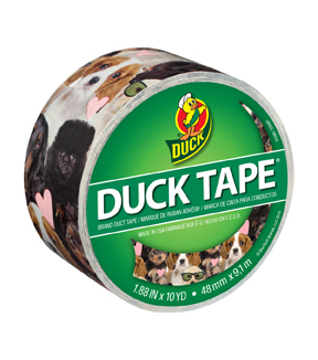 Printed Duck Tape Br& Duct Tape 1.88 in. x 10 yd.-Crazy Daisy