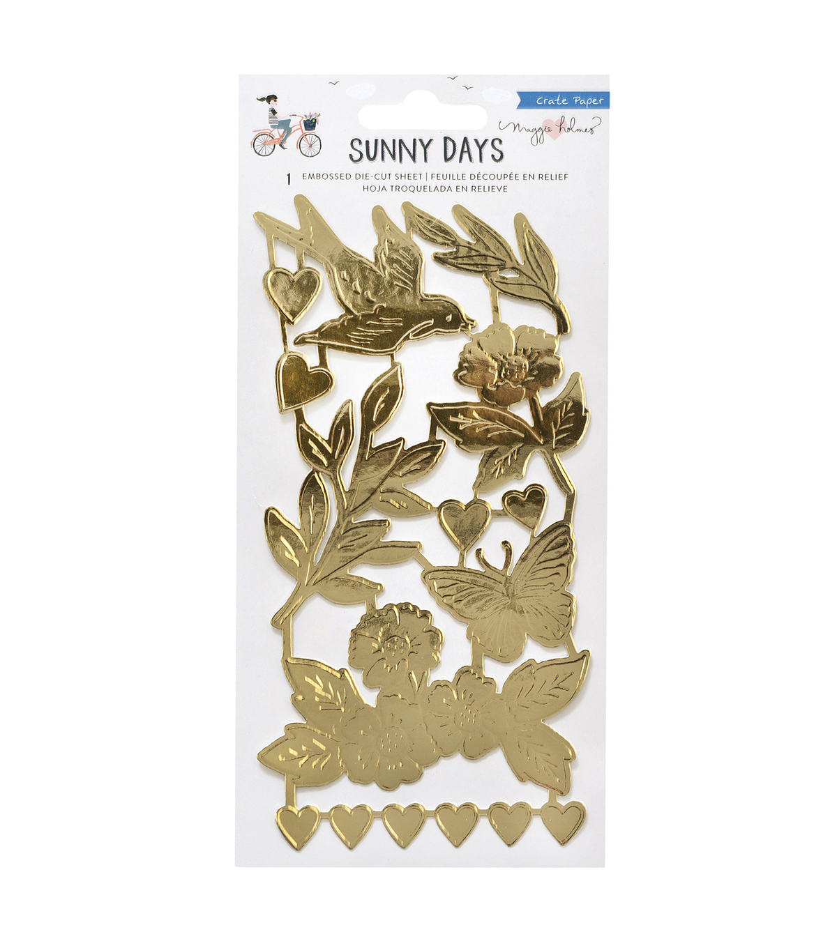 Maggie Holmes Embossed Die Cut Sheet Gold Foil -Sunny Days