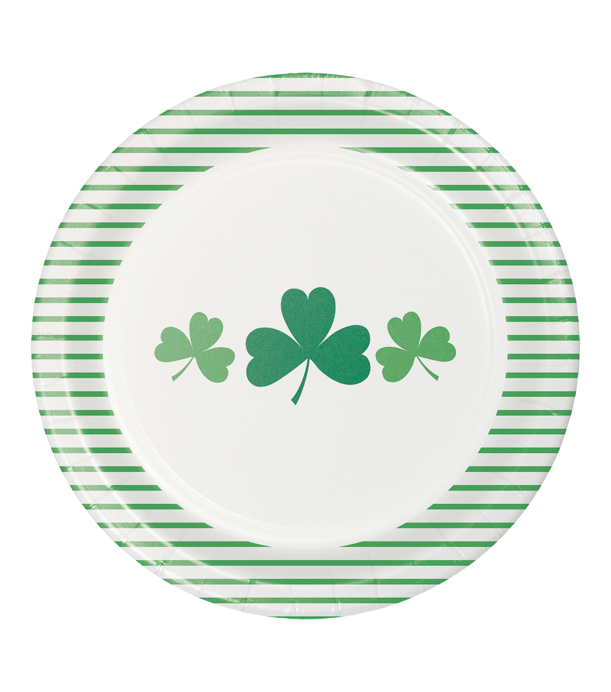 St. Patrick\u0027s Day Decor 8 pk Dinner Plates-Green Shamrocks & Stripes