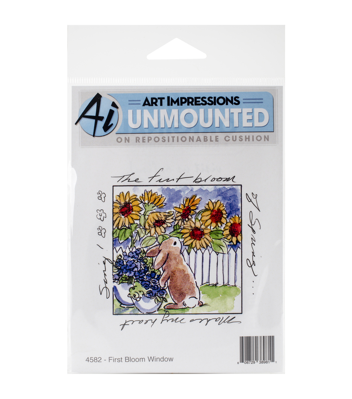 Art Impressions Windows To The World First Bloom Window Cling Stamp