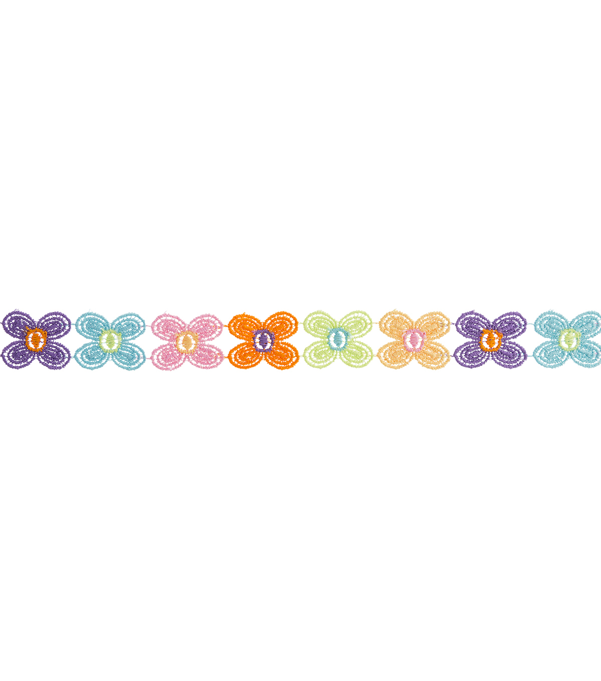 Simplicity Trims-7/8\u0022 Daisy Multi