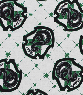 Harry Potter Cotton Fabric -Slytherin