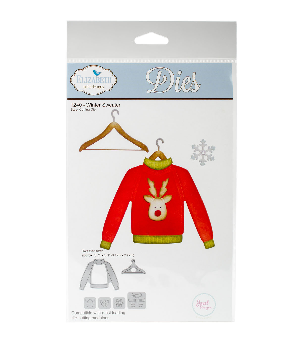 Elizabeth Craft Designs 6 pk Metal Dies-Winter Sweater