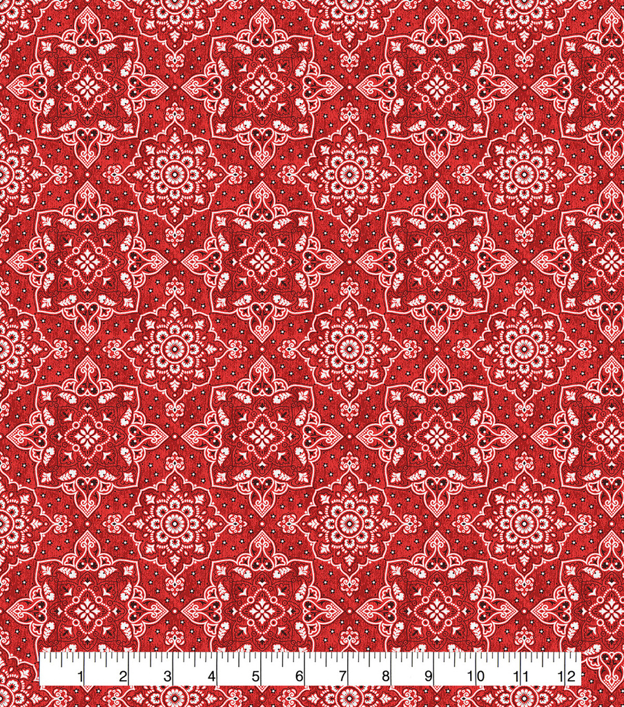 Keepsake Calico Cotton Fabric-Bandana Red