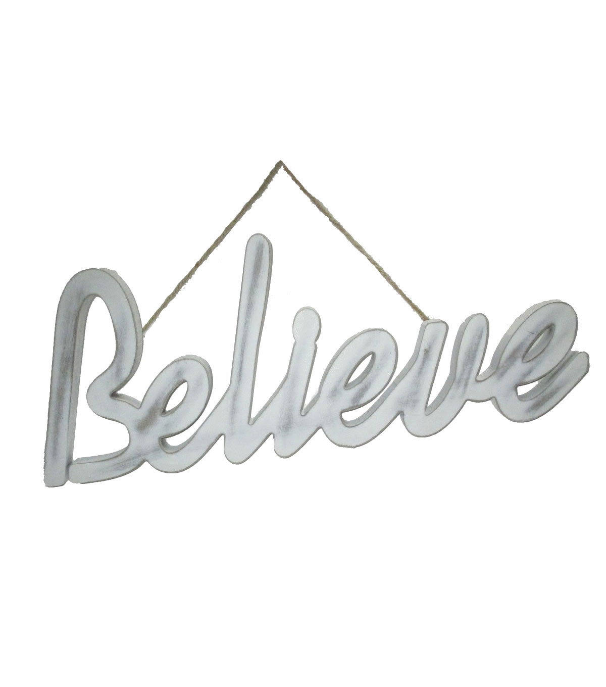 Maker\u0027s Holiday Christmas Believe Script Wall Decor