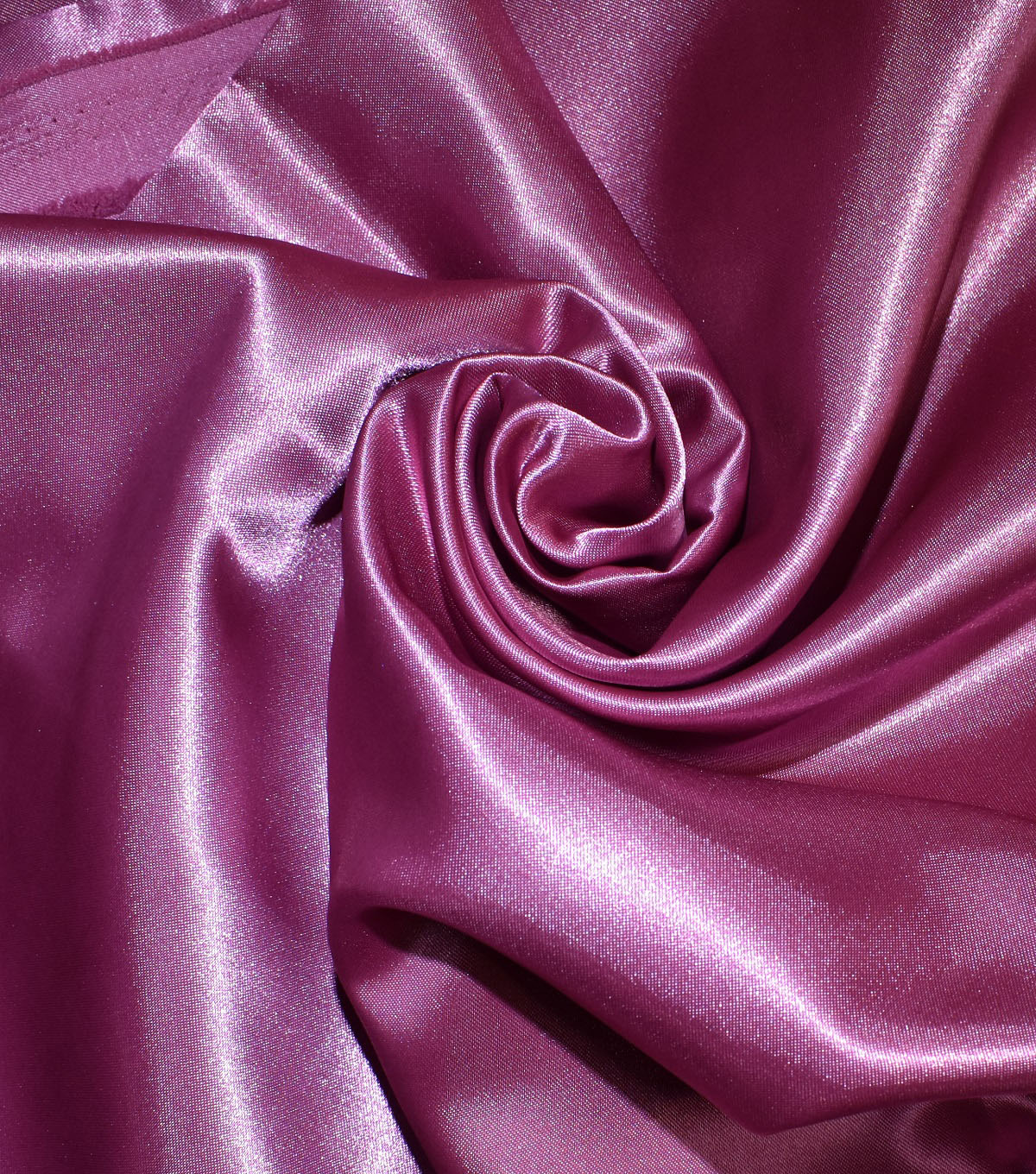 Casa Collection Shiny Satin Fabric, Heather Rose