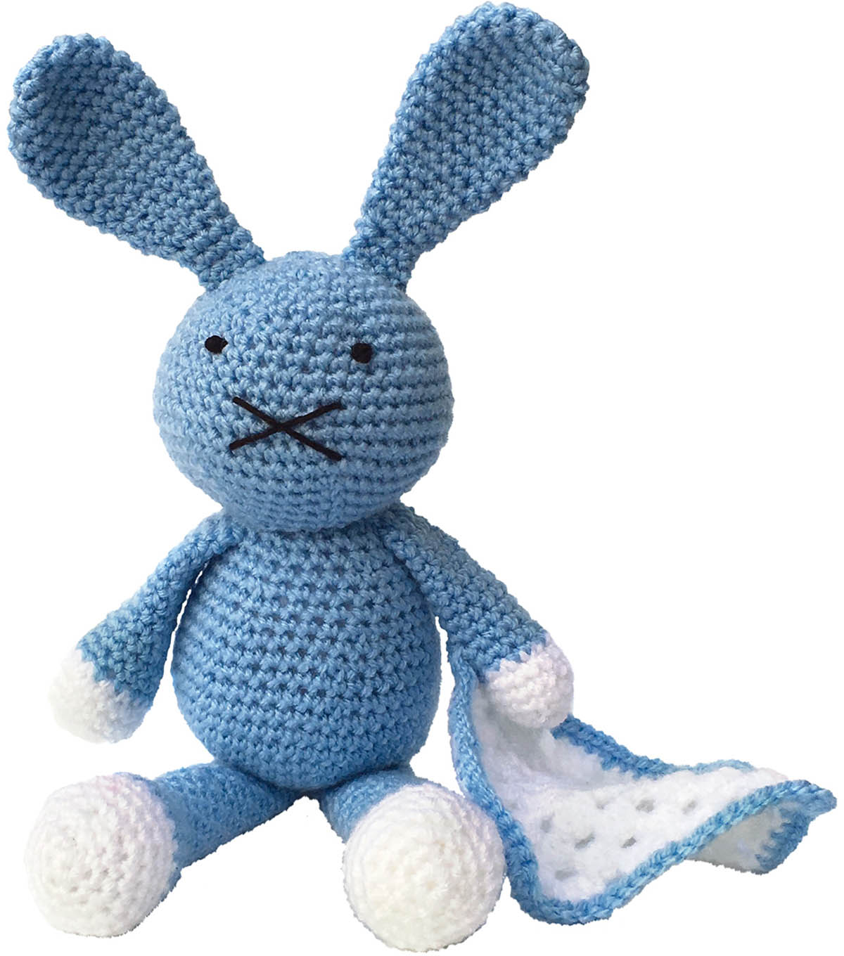The Crafty Kit Co. Crochet Kit-Baby Blue Bunny