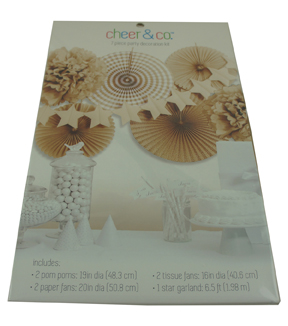 Cheer & Co 7pc Party Decoration Kit-Kraft