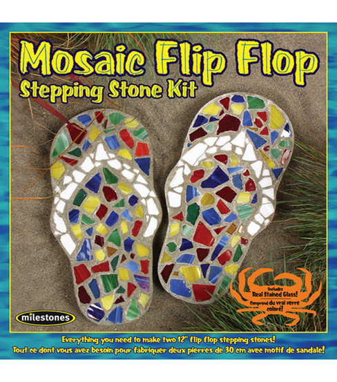 Mosiac Stepping Stone Kit-Flip-Flop