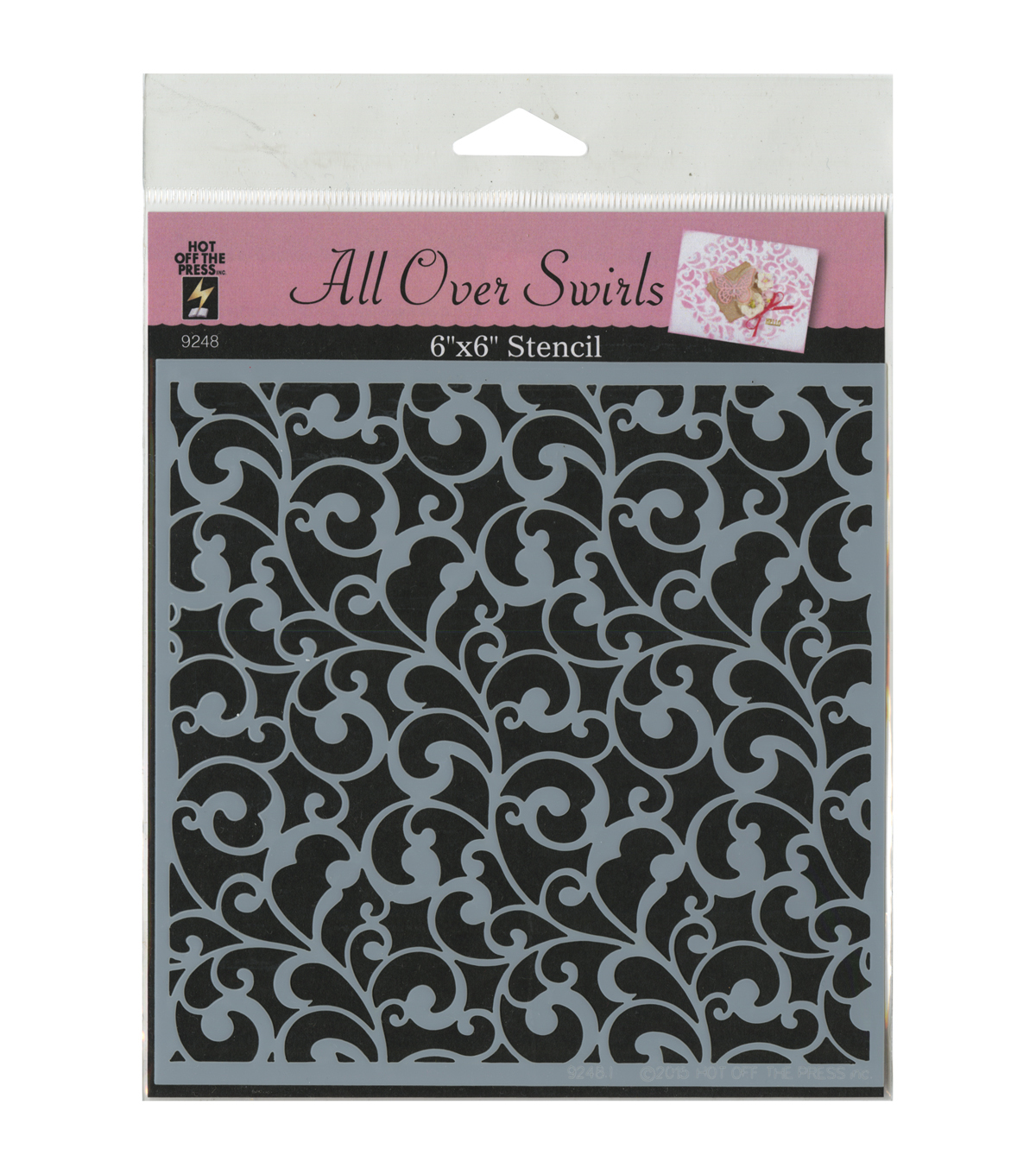 Hot Off The Press 6\u0027\u0027x6\u0027\u0027 Stencil-All Over Swirls