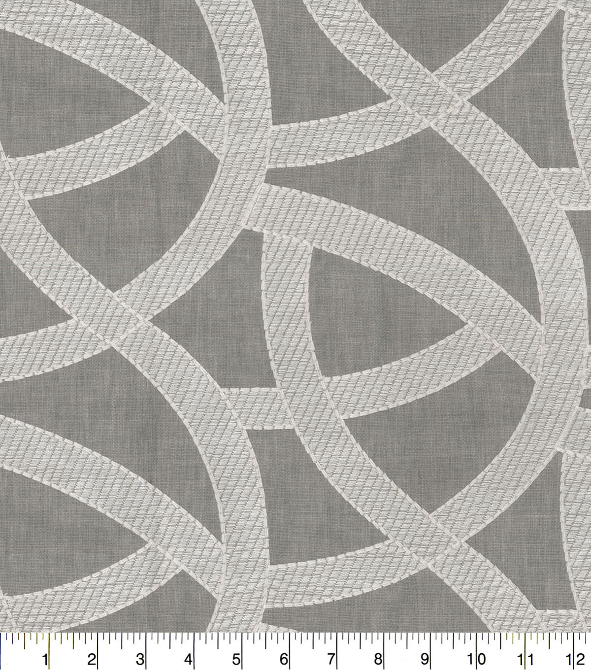 Studio NYC Upholstery Décor Fabric-Lunar Embroidered Smoke