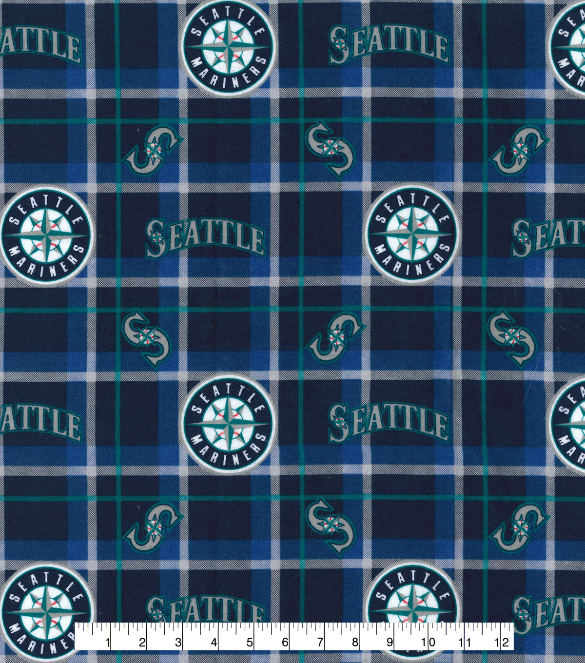 Seattle Mariners Flannel Fabric Plaid Joann