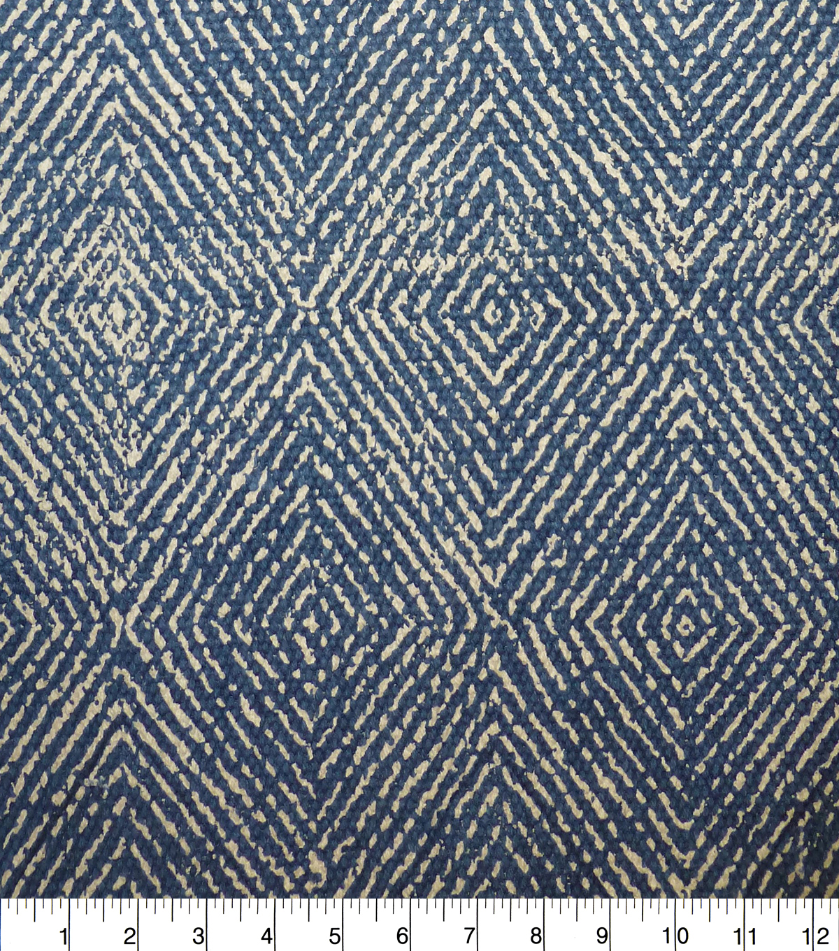 Lightweight Décor Fabric-Heavy Print Blue Diamond