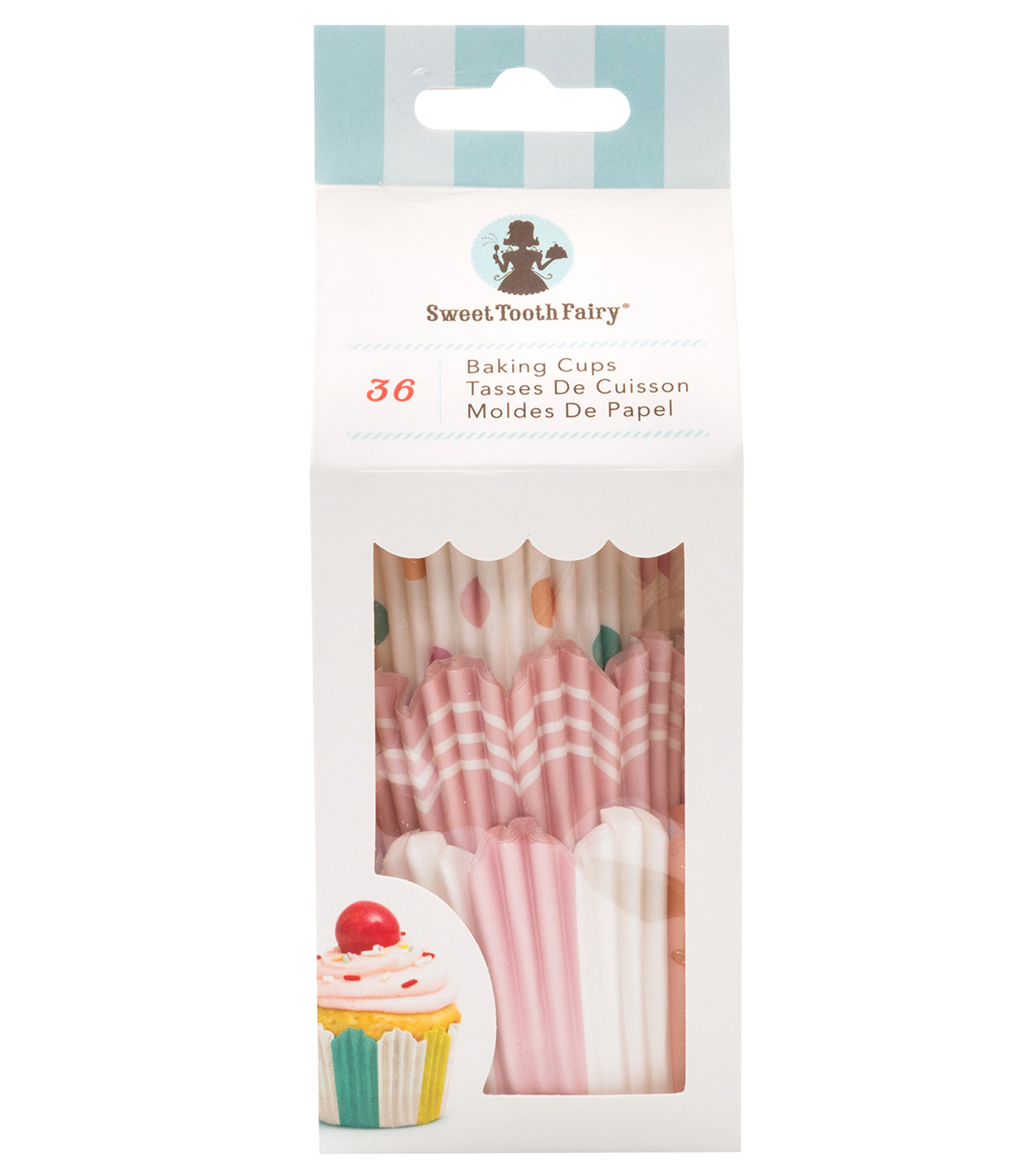 The Sweet Tooth Fairy 36 pk Baking Cups-Pastel