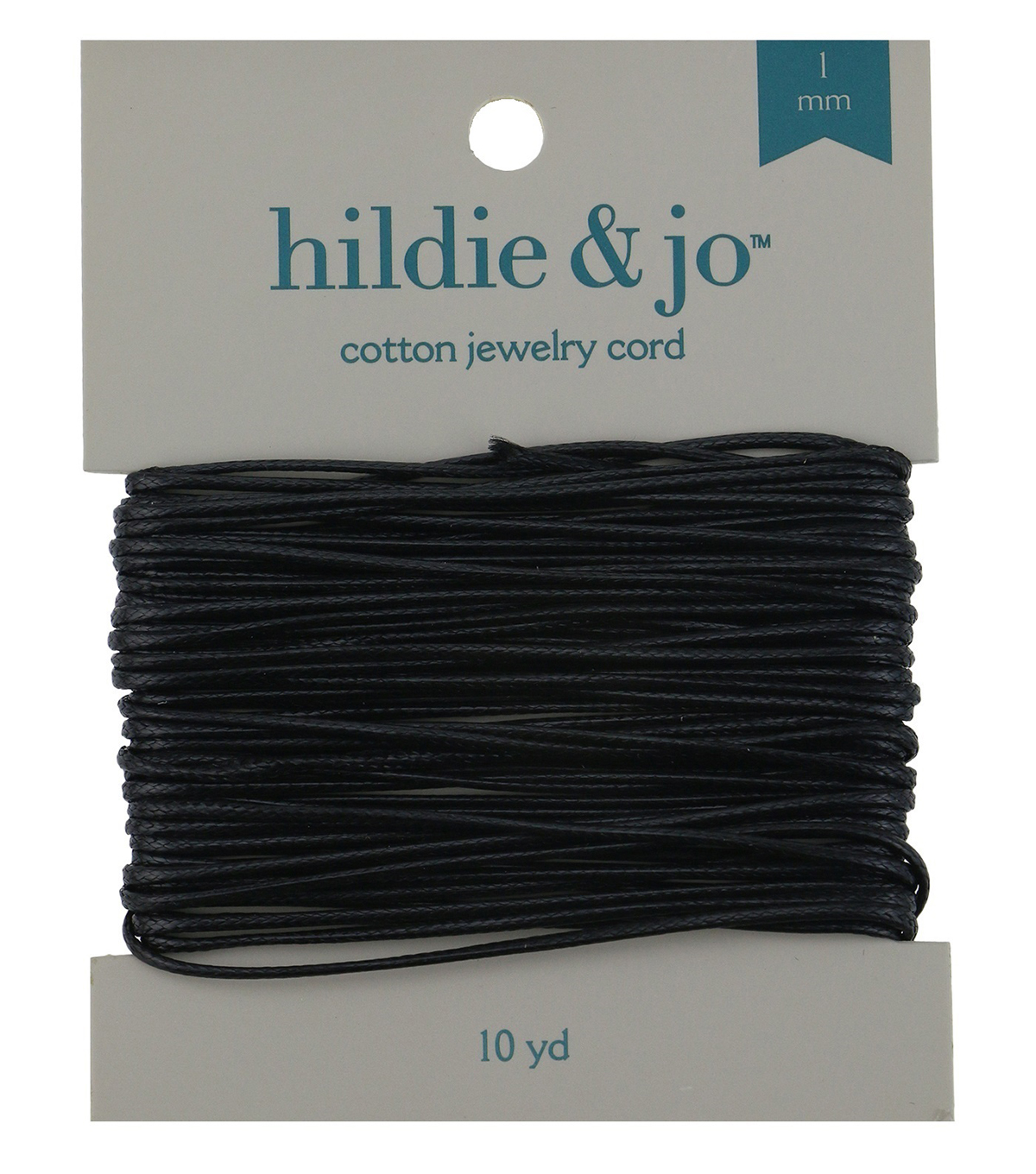 Black Cotton Cord, 10 yards, 1mm thick.