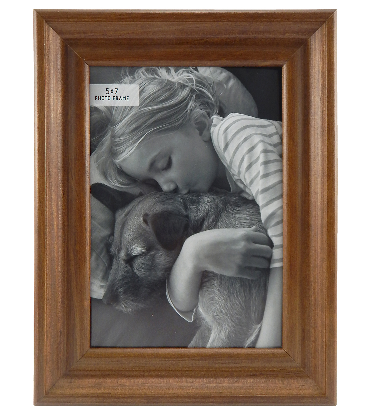 Wood & Glass Photo Frame 5\u0027\u0027x7\u0027\u0027-Warm Woodgrain
