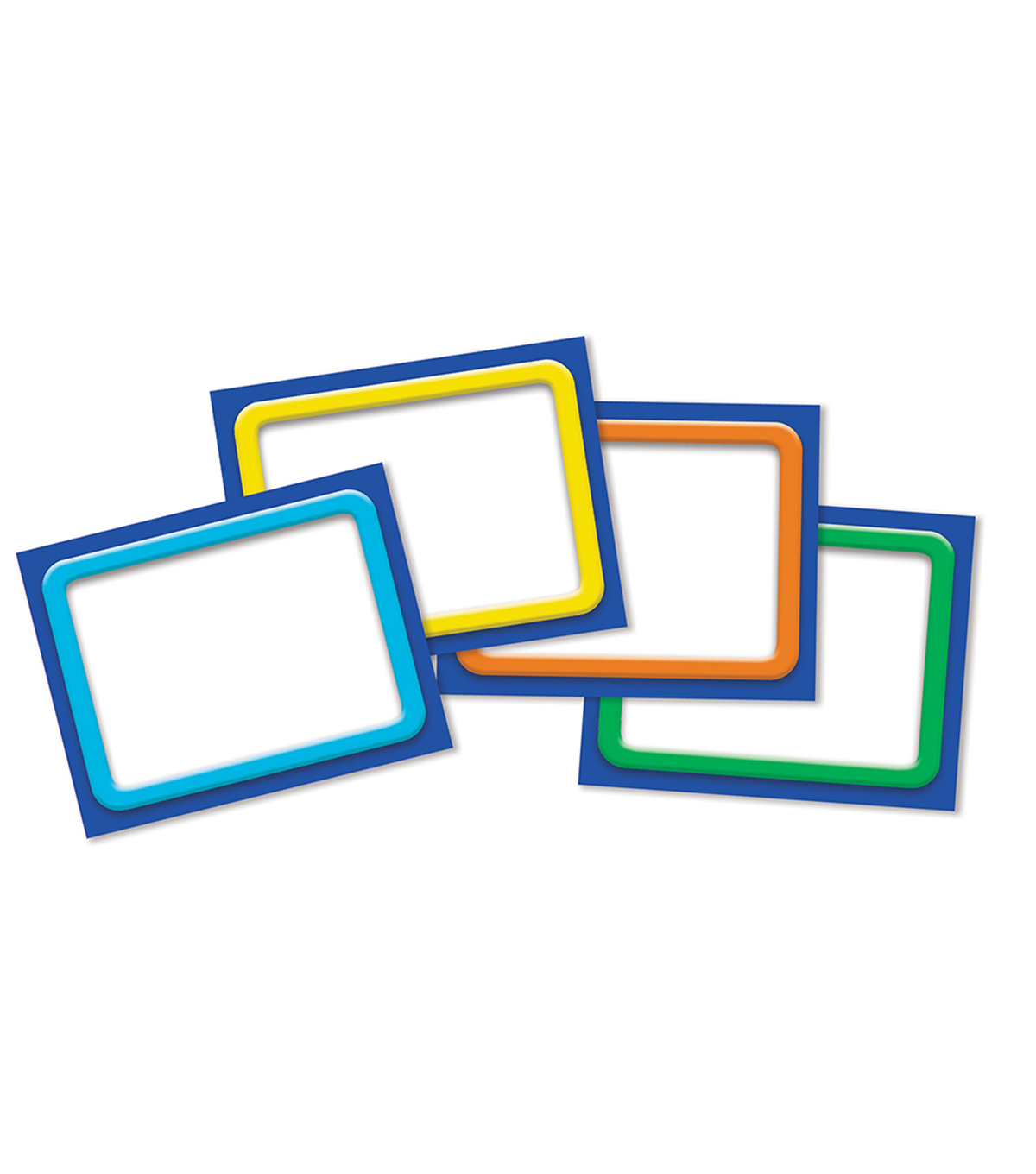 Eureka Name Tags-Color My World Solid Frames