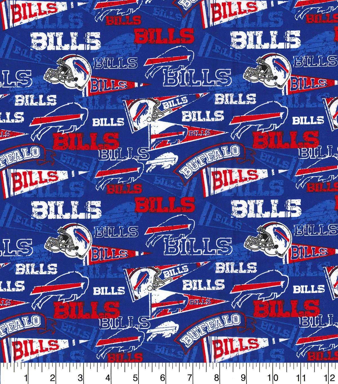 52ee3a6a Buffalo Bills Cotton Fabric-Retro