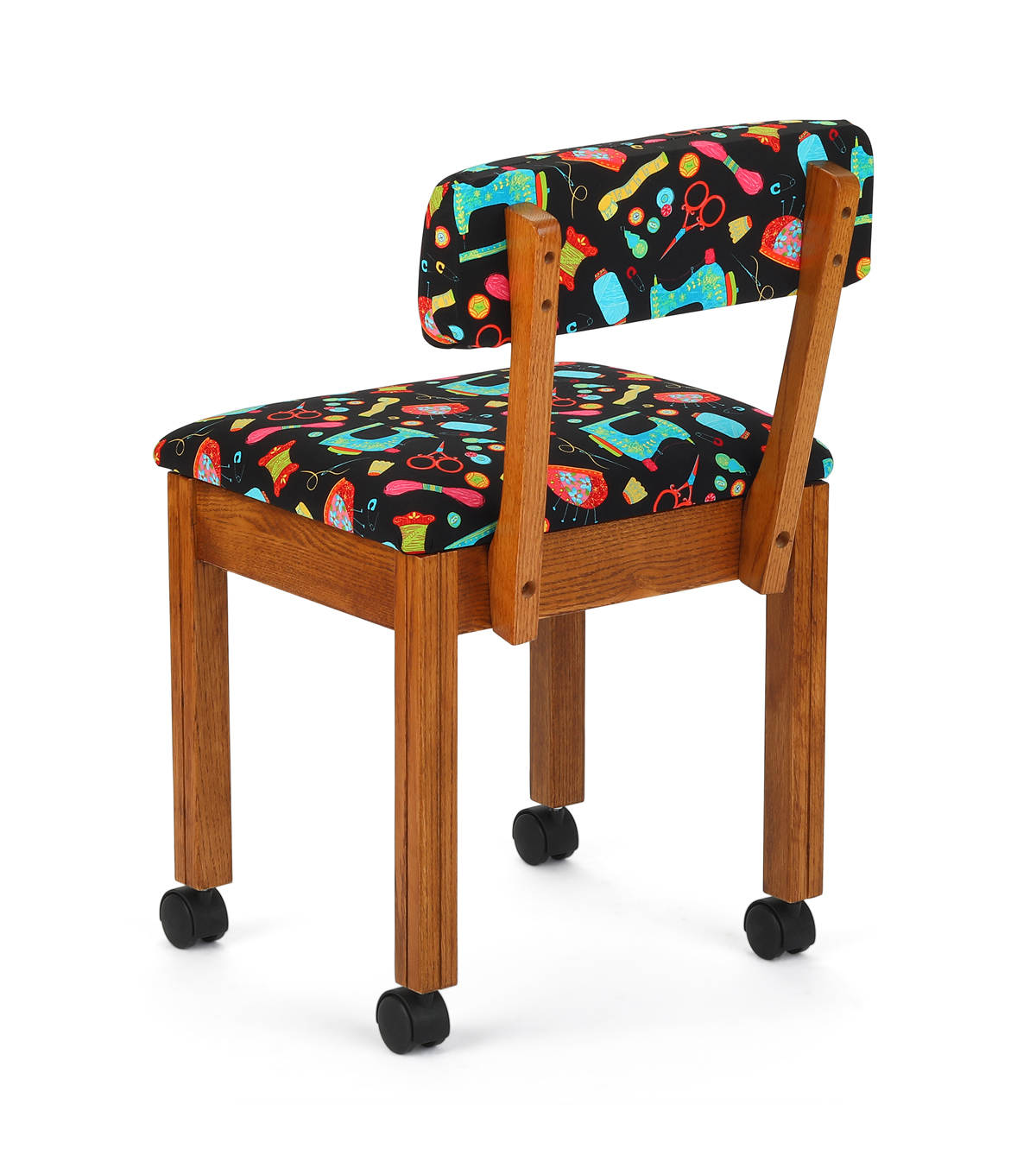 Arrow Sewing Chair Oak With Black Sewing
