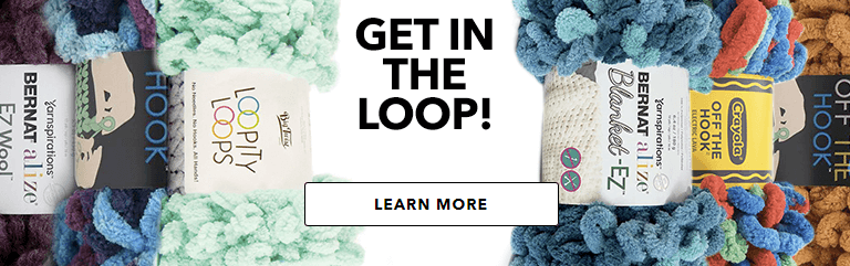 JOANN has a wide variety of loop yarn, so you can knit without needles.