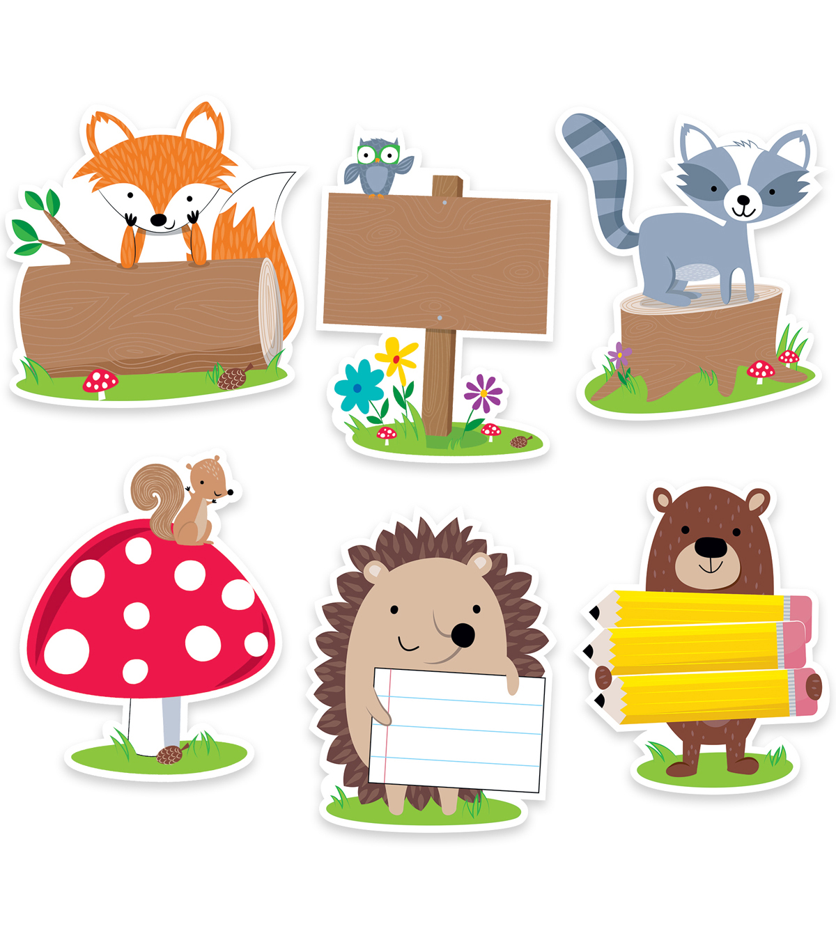 6in Woodland Friend Designer Cutout 36/pk, Set of 3 Packs