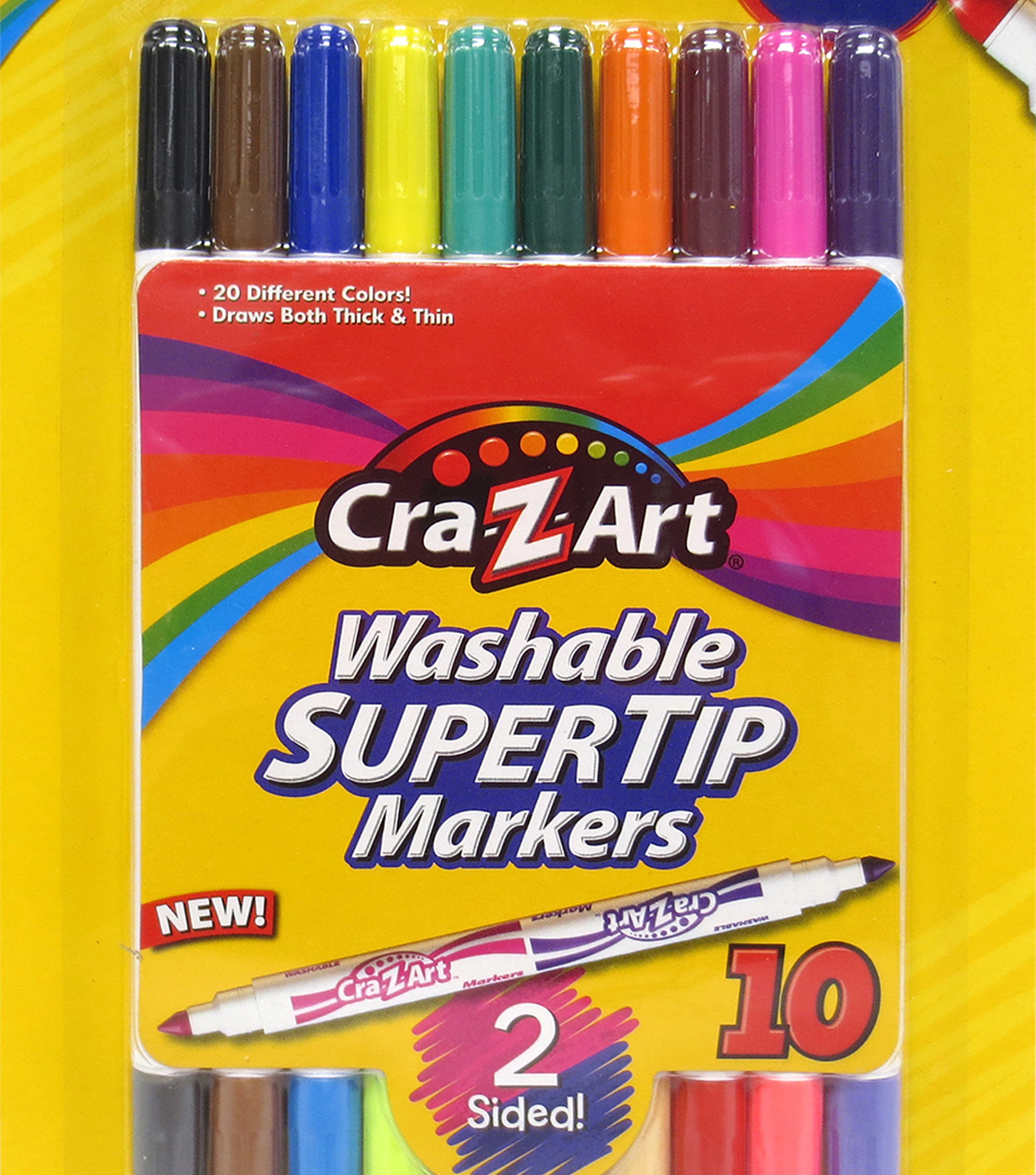 Cra-Z-Art 10 pk Washable Double-sided Super Tip Markers