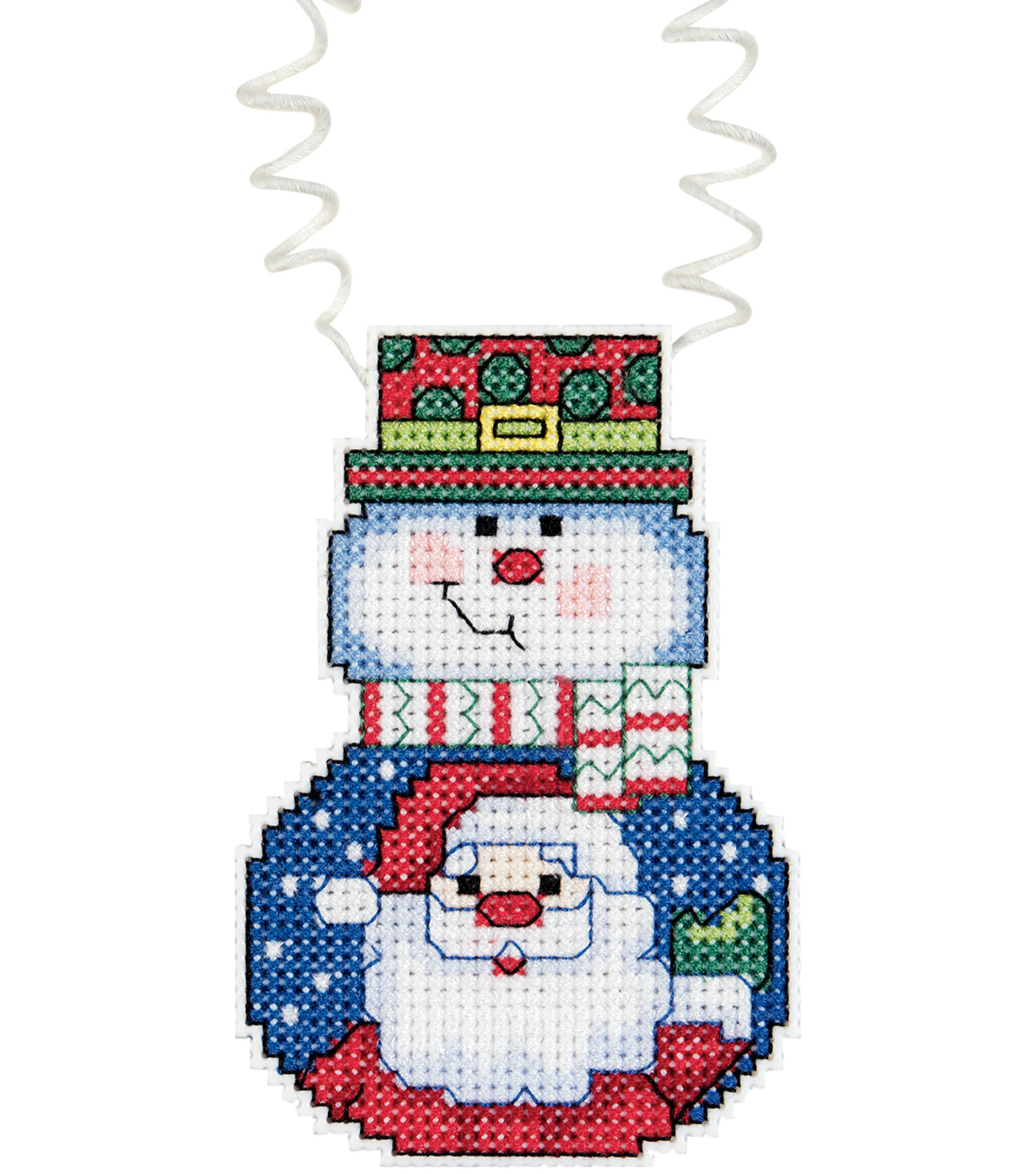 Janlynn Holiday Wizzers Snowman With Santa Counted Cross Stitch Kit
