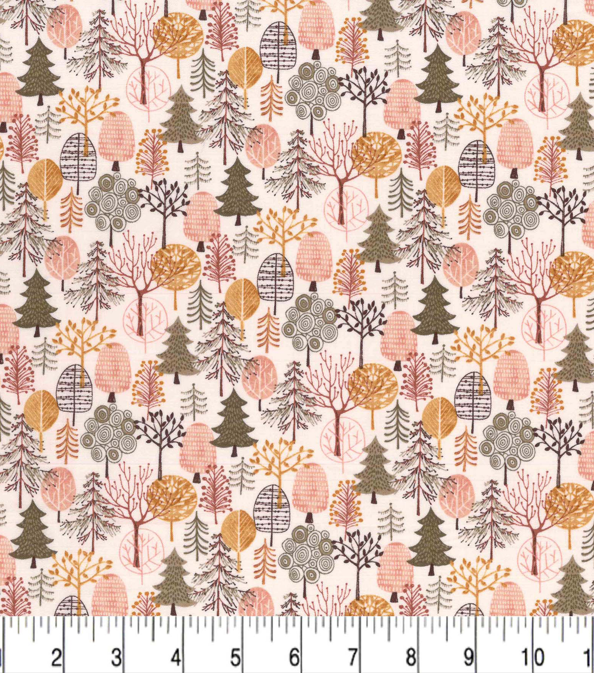 Premium Prints Cotton Fabric-Forest Campground