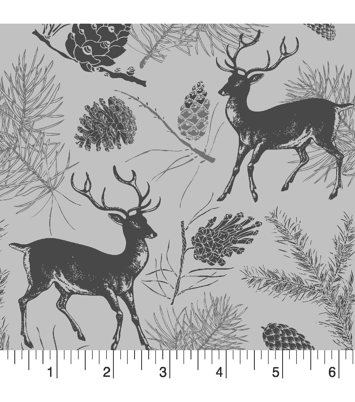 Snuggle Flannel Fabric -Deer Gray