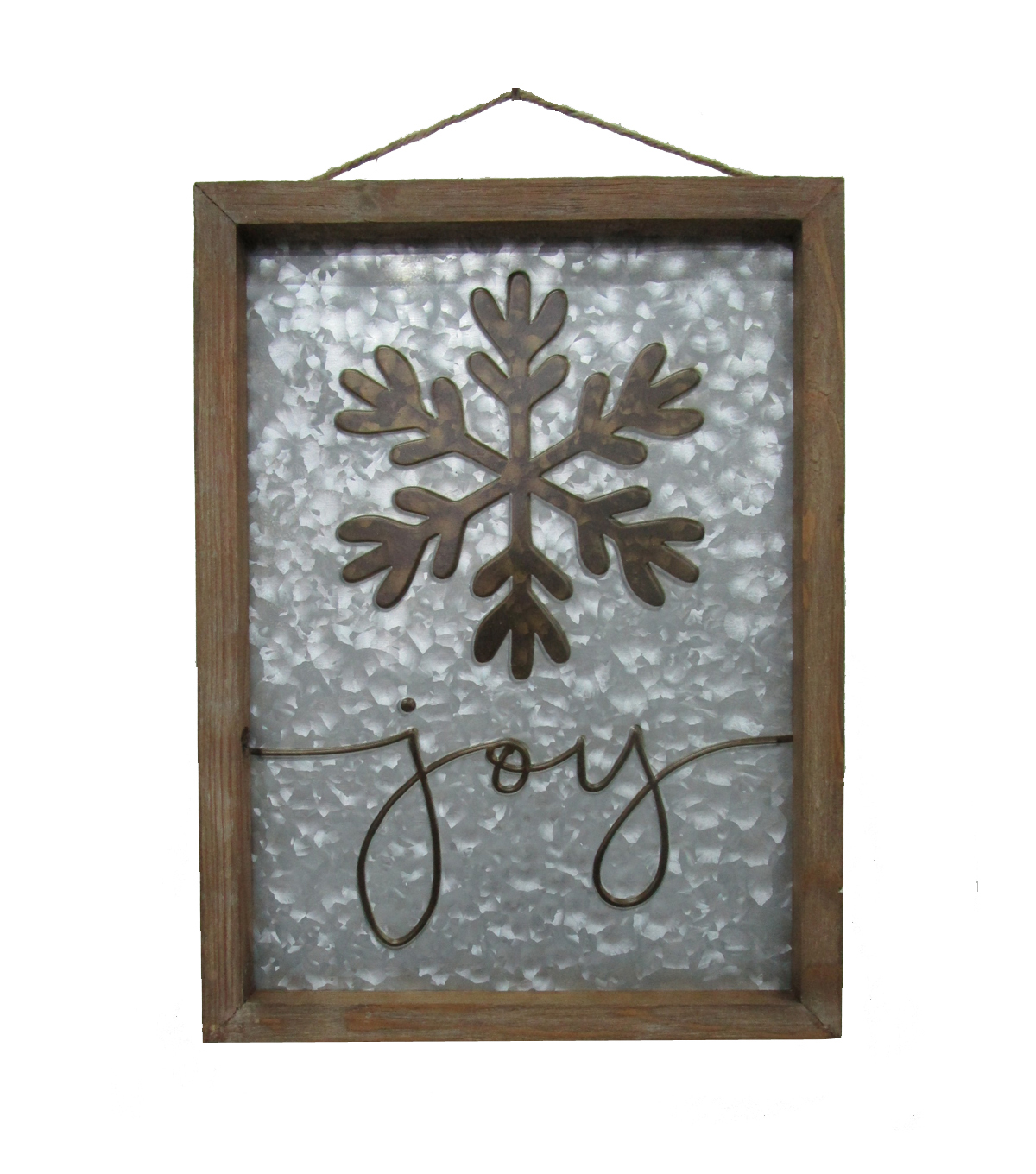Maker\u0027s Holiday Christmas Galvanized Wall Decor-Snowflake & Joy