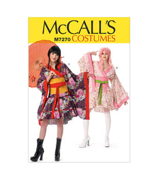 McCall\u0027s Pattern M7270-Kimono Top, Skirt, Obi and Belt