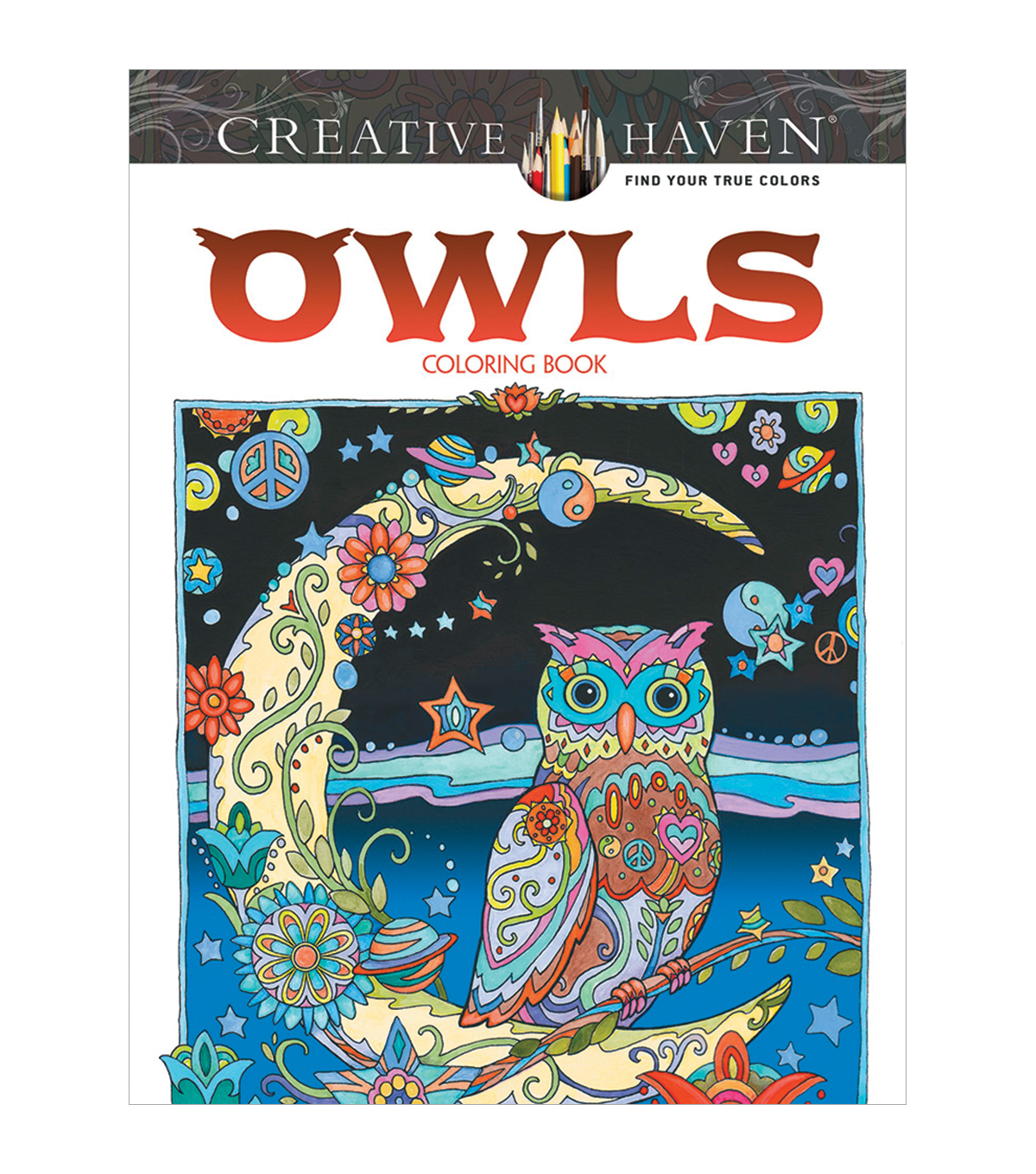 Dover Creative Haven Owls Coloring Book