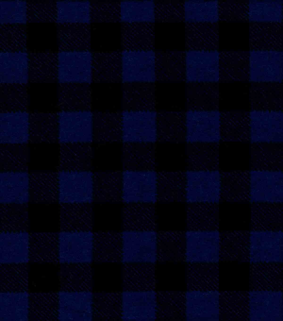 Quilter\u0027s Flannel Fabric-Navy Buffalo Plaid