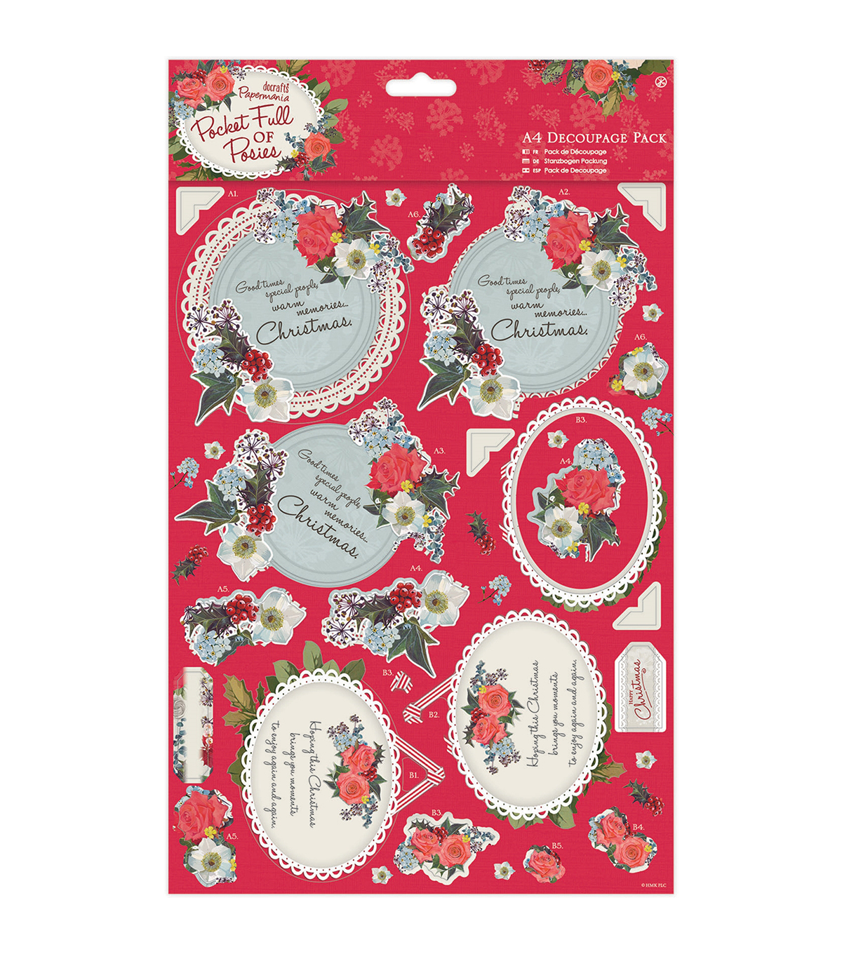 Papermania Pocket Full Of Posies A4 Decoupage Pack-Mum
