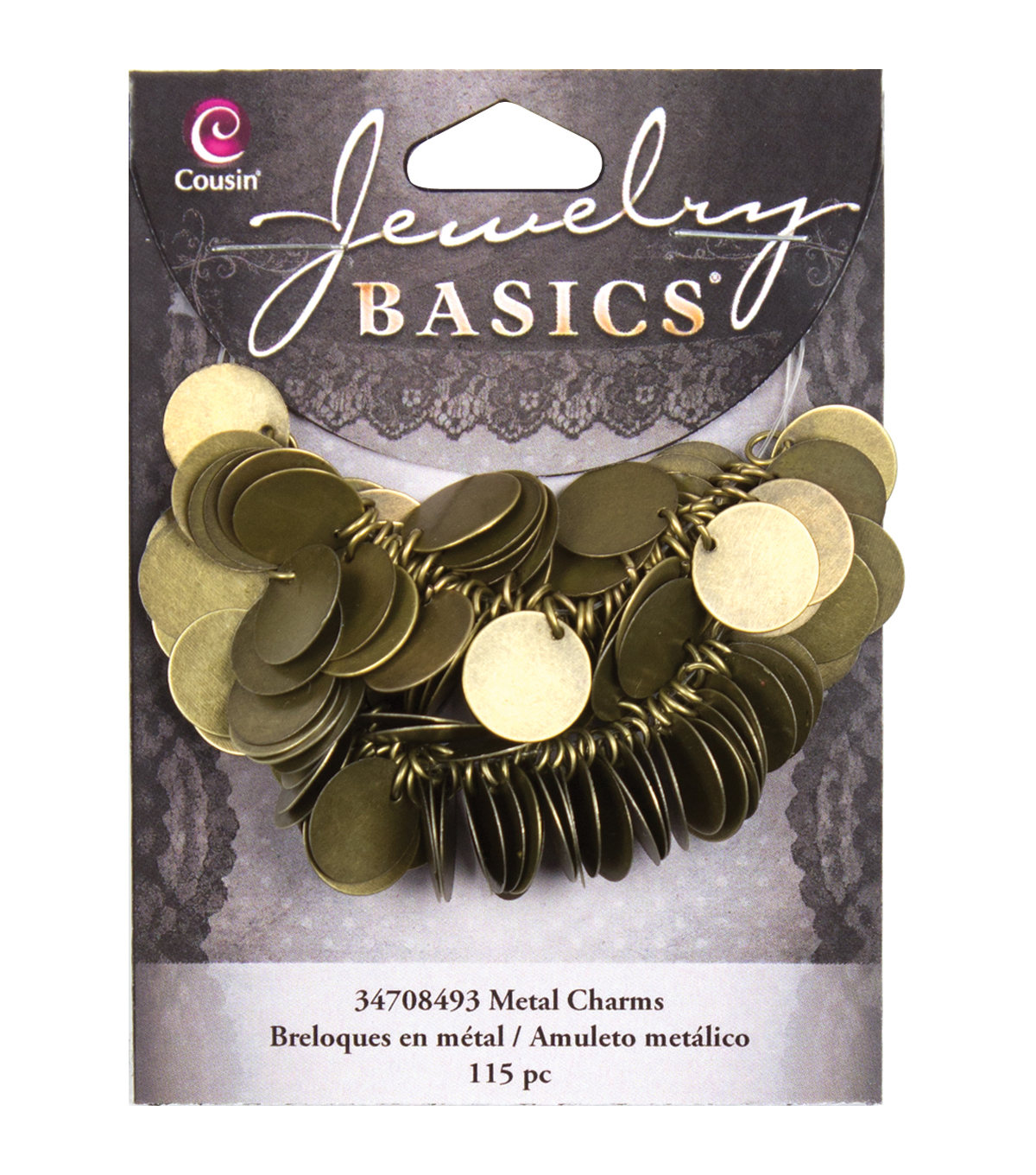 Jewelry Basics Coin Charms 115/Pkg-Gold