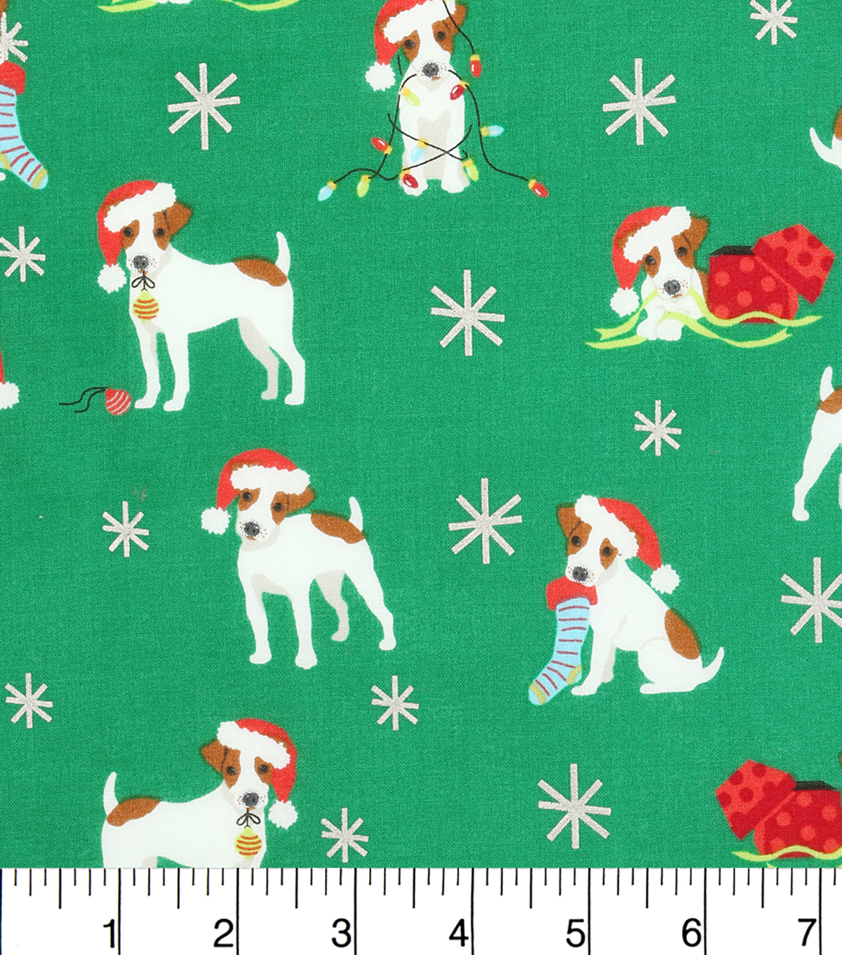 Holiday Cotton Fabric -Christmas Pups