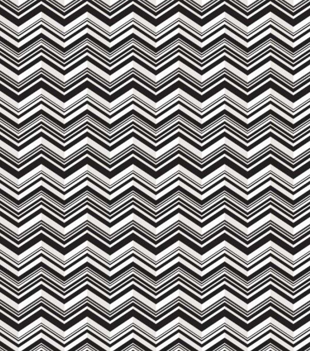 Babyville Black Chevron Pul Print Fabric