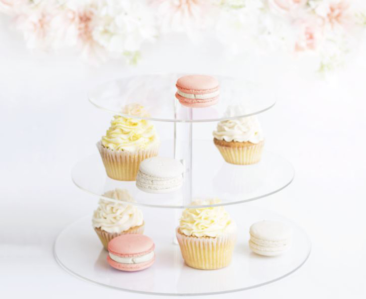 Save the Date 3 Tier Cake Plate