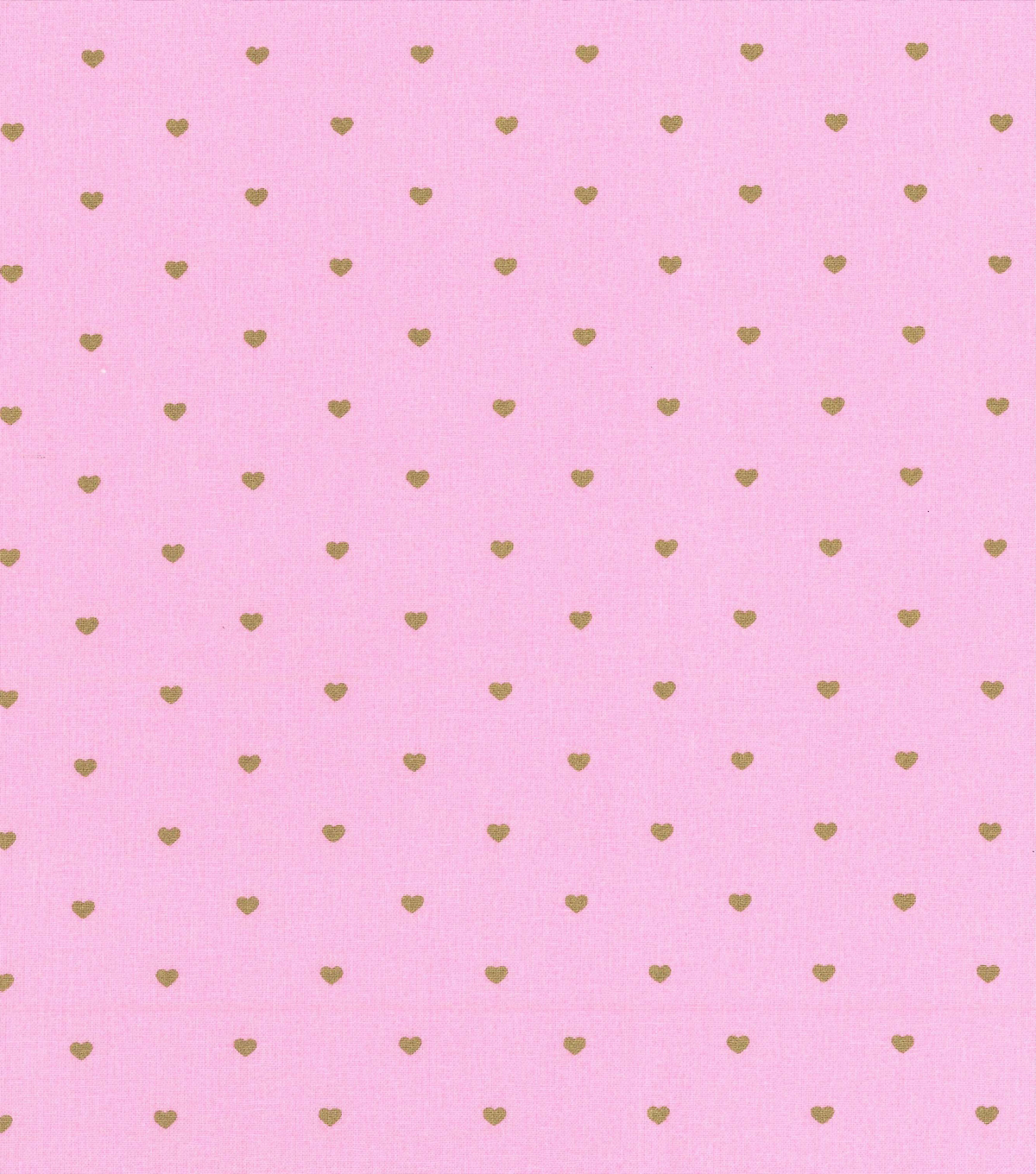 Keepsake Calico Cotton Fabric 43\u0022-Pink Heart Metallic