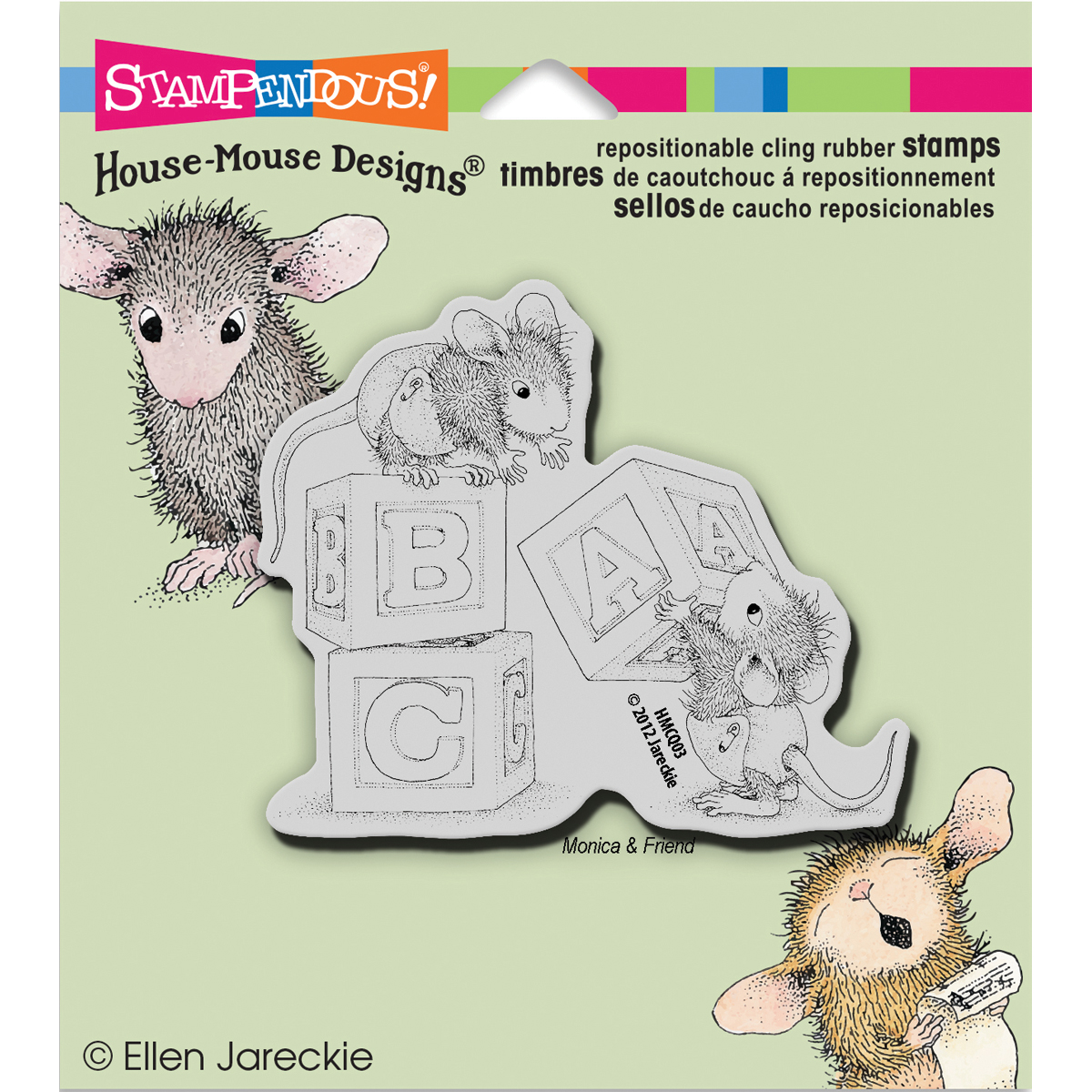 Stampendous House Mouse Cling Stamp Baby Blocks