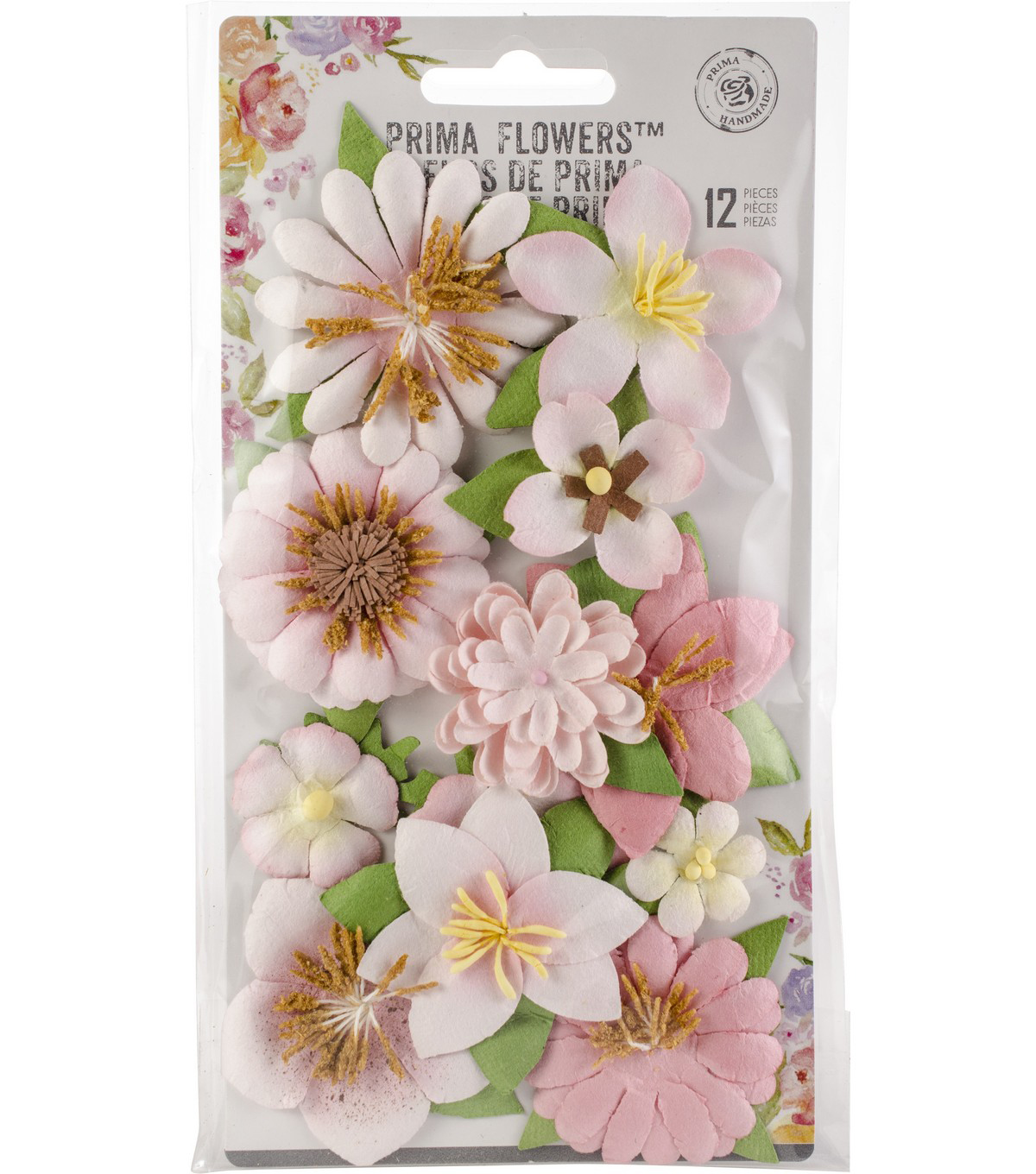 Prima Marketing Havana 12 pk Mulberry Paper Flowers-Ella
