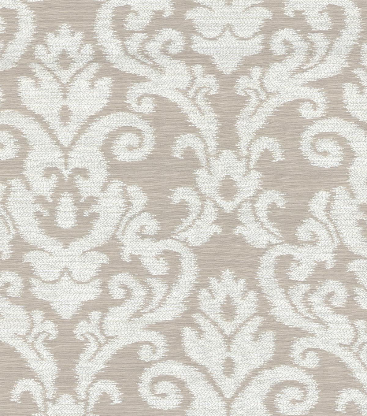 Waverly Upholstery Fabric 57\u0022-Kenwood Damask/Flax