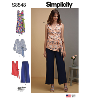 Simplicity Pattern S8848 Misses\u0027 Dress, Tops & Pants-Size U5 (16-24)